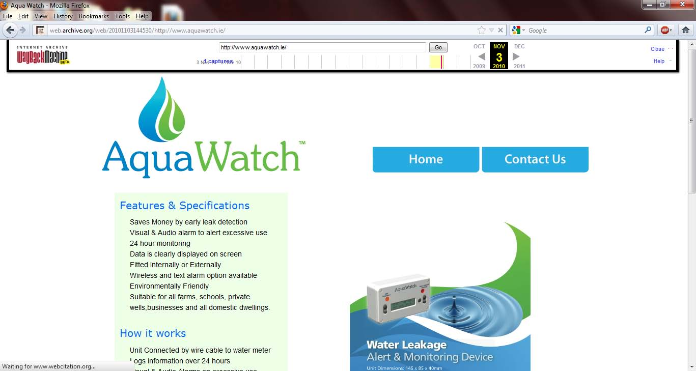 Aquawatch 2010-11-03